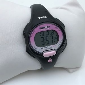 Timex Ironman Ladies Watch Black/Pink Digital Mult